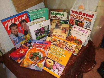 Konvolut knih-zahr. a lék. rádce, hubnutí, moučníky, kuchařky-top stav