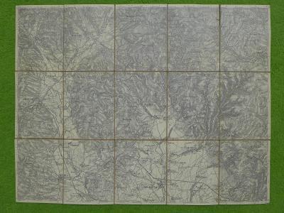 Stará mapa Mhr. Neustadt und Schönberg (Uničov a Šumperk) asi 1914