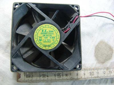 Ventilátor 12V, 80mm