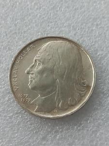 Stříbrná mince 100 Kčs Václav Hollar 300. výročí úmrtí 1977