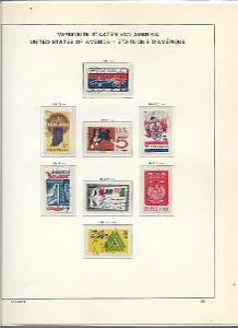 8 albových listů známek  USA