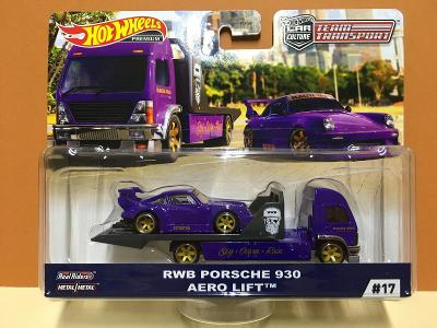 RWB Porsche 930 + Aero Lift - Hot Wheels - Team Transport #17