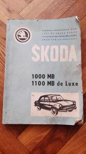 Seznam náhradních dílů ŠKODA 1000MB- 1100MB de Luxe - 1968-1969