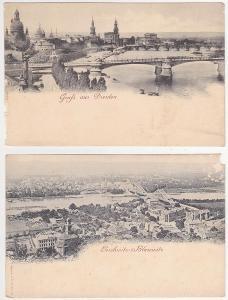 Německo - Drážďany, Dresden, Loschwitz (2 ks) 1900