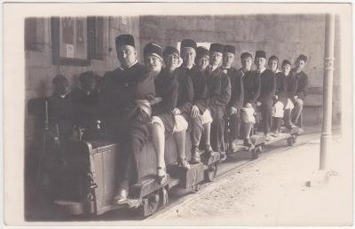 Německo, Bavorsko, Solný důl Berchtesgaden, lidé 1926