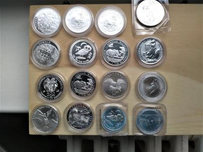 Investiční stříbro 16 kusů 1 Oz 999/1000.