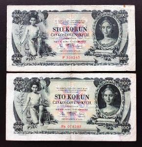 2x 100 K 1931 vzácná série P + Pa, zachovalý stav !!!