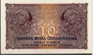 10 Kč 1927 N/UNC výjimečná zachovalost série B! Neperforovaná