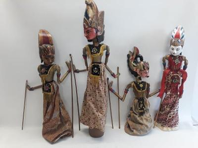 Staré panenky, Wayang, Indonesie, Loutky