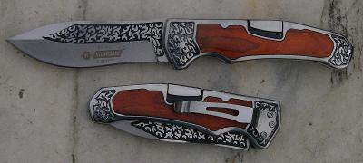 Zavírací nůž KANDAR 3D zdobení 21/12 cm