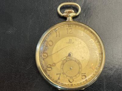 Zlaté kapesní  hodinky Omega z 14k zlata