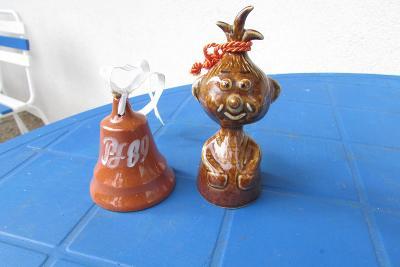 keramické zvonečky - zvon a holka