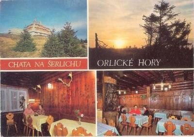 Orlické hory - chata na Šerlichu