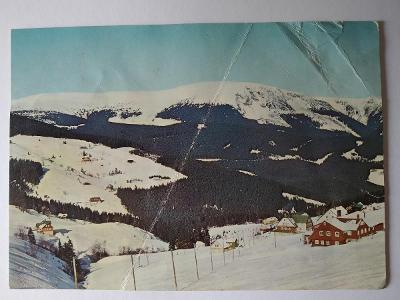 Pohlednice Krkonoše Pec pod Sněžkou POMUCHLANÁ