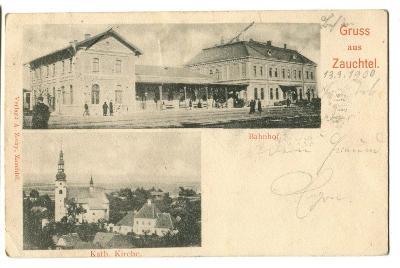 Suchdol nad Odrou, Zauchtel, Nový Jičín, nádraží