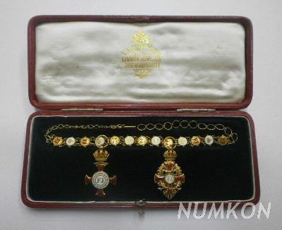 Rakousko-Uhersko zlaté miniatury Záslužného