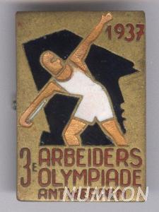 Belgie odznak účastníka 3. Dělnické (vzdoro)o
