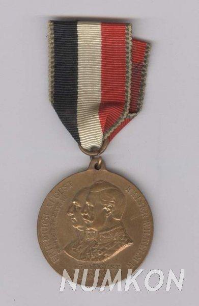 Německo pamětní vojenská medaile 1908 100.