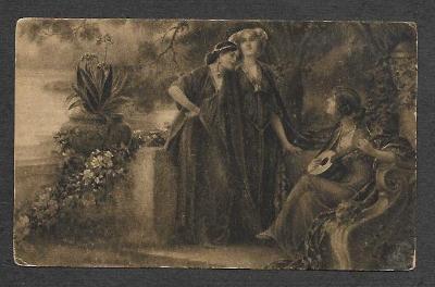 Ženy, hudba, M. Schram : Nokturno, ca 1910