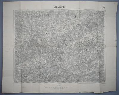 KADAŇ a JÁCHYMOV - Mapa - Vojenský zeměpisný ústav v Praze