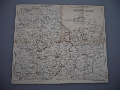 ORLICKÉ HORY - Turistická mapa - Kreslil Adolf Řehák