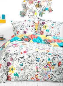DESIGUAL-sheet _COLOUR IT/luxusní povlečení s fixami na textil 💖😍1,-