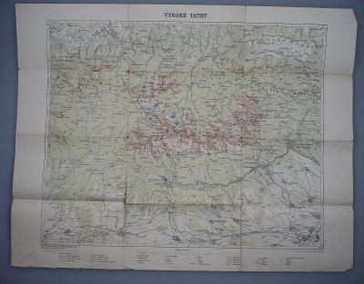VYSOKÉ TATRY, SLOVENSKO - Mapa - Tisk V. Neubert