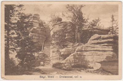 Šumava, Bavorský les - Třístoličník, Dreisesselberg 1927