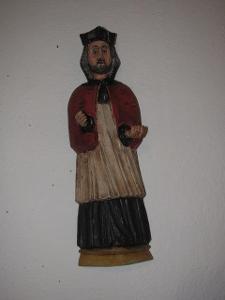 Dřevořezba sv.Jan Nepomuk - závěsná na zeď