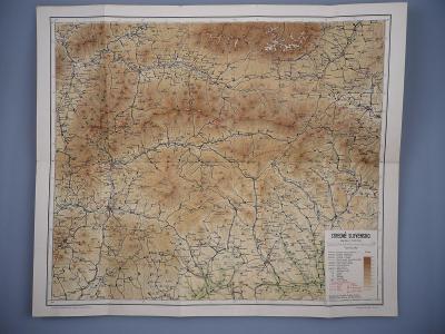 Mapa STŘEDNÍ SLOVENSKO - Brezno, Zvolen, Nízké Tatry -  Neografia