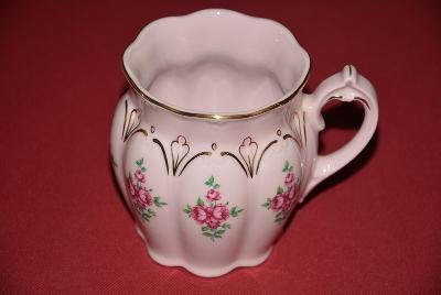 hrnek H&C růžový porcelán
