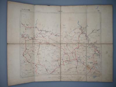 SLOVENSKO , Stará Ľubovňa - Maďarská schématická mapa cest z roku 1931