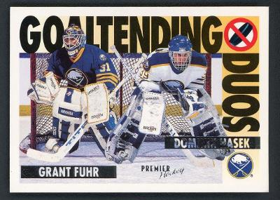 DOMINIK HAŠEK / GRANT FUHR 1994-95 TOPPS PREMIER GOALTENDING DUOS