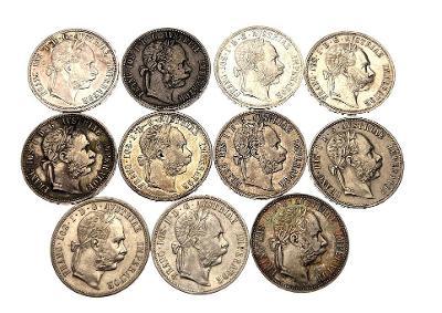 Lot Rakouských stříbrných zlatníků - 11 kusů