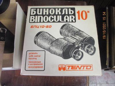 RUSKÝ DALEKOHLD-TENTO-10x50-ORIGO KRABICE ULOŽENKA SUPER STAV-1KČ