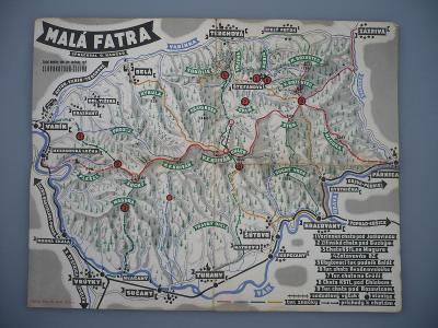 SLOVENSKO MALÁ FATRA - Tuřany, Vrútky - Turistická mapa - G. Karger