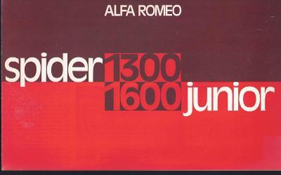 Alfa Romeo Spider 1300 Junior a 1600 Junior