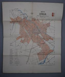 MĚSTO OPAVA - Plán města - Vytiskl V. Neubert