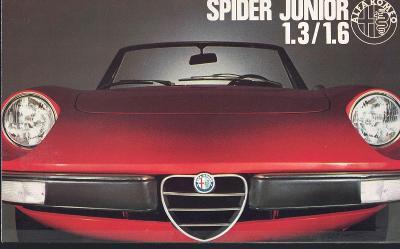 Alfa Romeo Spider Junior 1.3 a 1.6