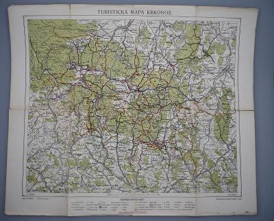 KRKONOŠE - Vrchlabí - Turistická mapa - Zpracoval Adolf Řehák 1913