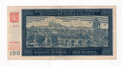 100 K - 1940 - PROTEKTORÁT - neperforovaná - Série 26 Gb - II. vydání