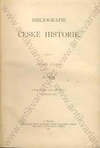 Bibliografie české historie I.-V.  Zíbrt 1900