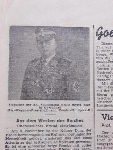 Oberdonau-Zeitung. Origo dobové válečné noviny. 13.11.1943. B2599