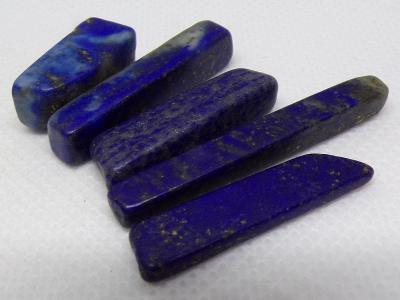 Lapis Lazuli - 5x Krystal - Minerál - 14 g -  TOP A+++