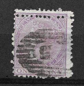New Zealand One Penny 1882, SG NZ187 dvojitá pref.!!