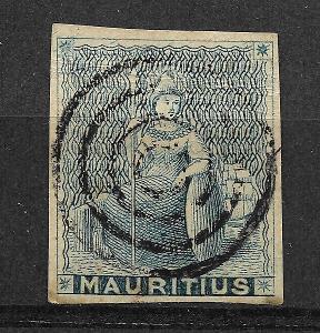 Mauritius Six Pence 1858 Trial Print, mim.vysoký kat. !!!!