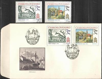 V9615   - FDC obálka prvního dne vydání + známky navíc