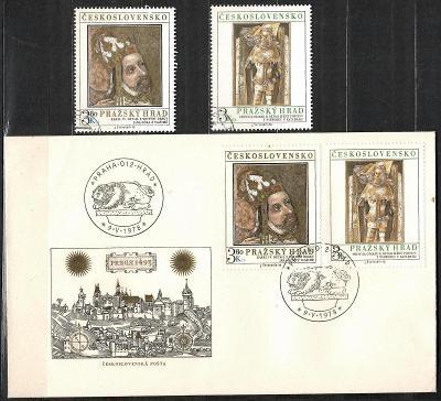 V9616   - FDC obálka prvního dne vydání + známky navíc