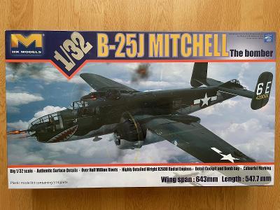 NOVÝ 1:32 B-25J MITCHELL HK Models + doplňky Eduard