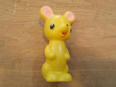 Gumová pískací hračka  myška  12 cm - od 1kč